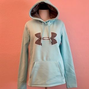 Under Armour Women's turquoise and gray hoodie